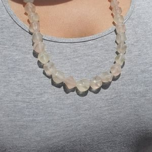 Jewelry - Clouded Bubble Gum Beaded Necklace